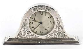 American sterling silver mantle clock - USA 1920, mark