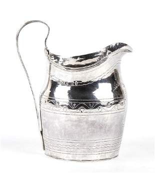 English Georgian sterling silver cream Jug - London