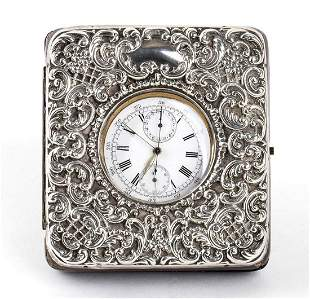 English sterling silver Goliath pocket watch stand -