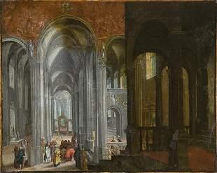 Flemish Gothic church interior
