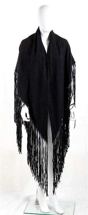 HERMES WOOL AND CASHMERE SHAWL 80s