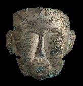 MASCHERA FUNERARIA IN ARGENTO Cina, dinastia Liao