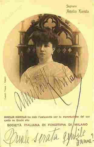 Amelia Karola (Napoli 1875 – Viareggio 1925)