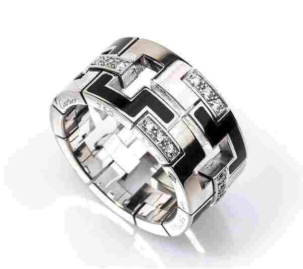 Gold and diamonds ring - by CARTIER