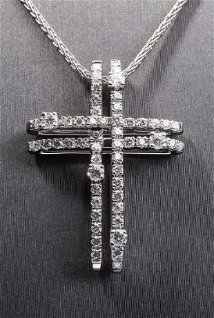Gold and diamonds pendant and necklace - by DAMIANI