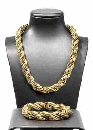 Gold necklace and bracelet - TIFFANY & Co., 1970s