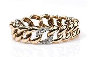 Gold and diamonds bracelet