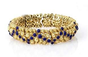Gold and enamel bracelet - 1960s