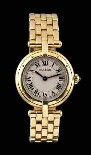 CARTIER Panthere Ronde gold lady's wristwatch