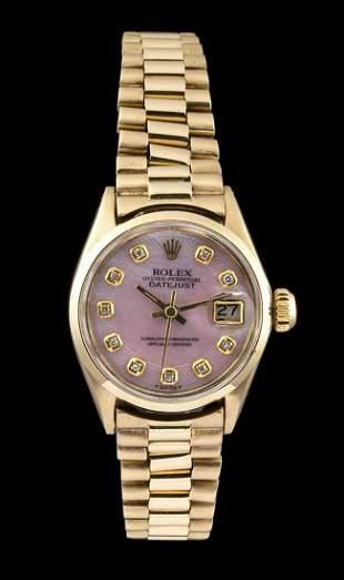ROLEX DATEJUST lady gold wristwacht