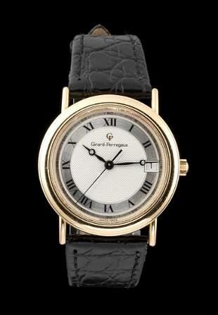 GIRARD PERREGAUX model 1966 gold wristwatch