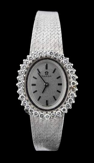 OMEGA gold lady's wristwatch