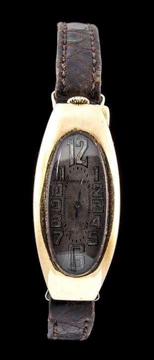 MOVADO gold wristwatch - 1940s
