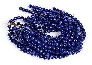 13 loose lapis lazuli beads strands