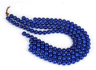 4 loose lapis lazuli beads strands