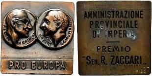 IMPERIA. Medaglia Amministrazione Provinciale Premio