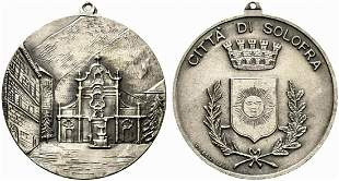 SOLOFRA. Medaglia senza data con stemma della Città .