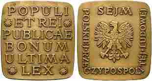 POLONIA. Medaglia senza data AE (159 g - 74x70 mm)