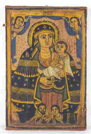 Coptic icon of Virgin and Child - Egypt, 19th Century