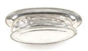 Six Italian 800/1000 silver tray - Italy, mid 20th