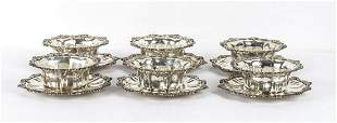 900/1000 silver, six dishes and six cups -Egypt, 20th