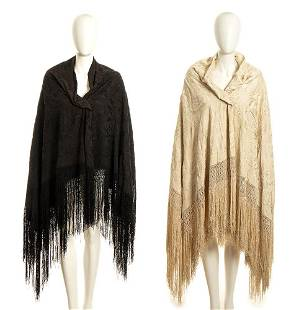 2 SHAWLS Late 19th / Early 20th century