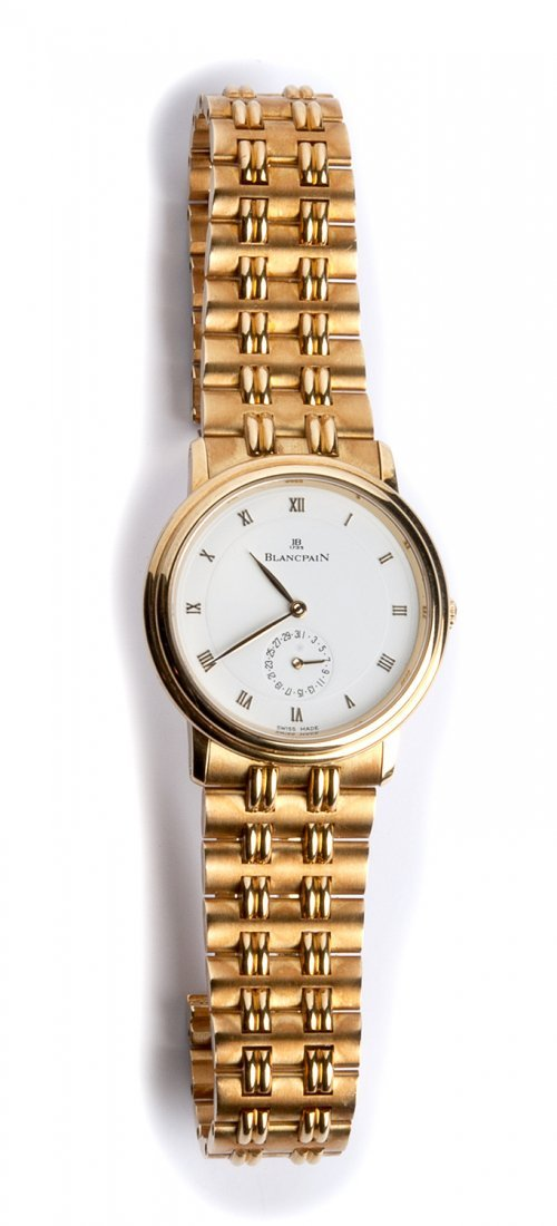 An 18K gold Ladies Wristwatch, by  BLANCPAIN Villeret