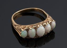 Beautiful Victorian Style 18k Gold Opals And Diamond