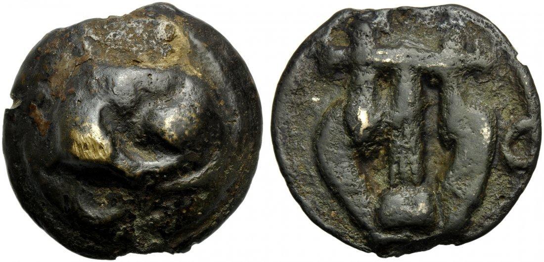 Umbria, Tuder, Cast Semis, c. 220-200 BC