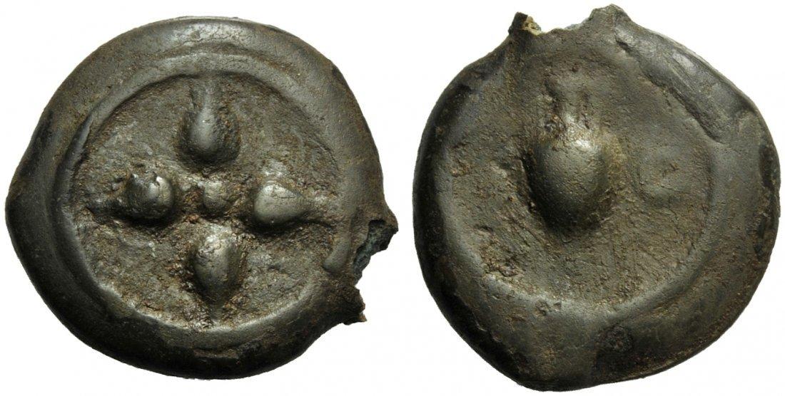 Etruria, Uncertain Mint, Cast Uncia, 3rd century BC