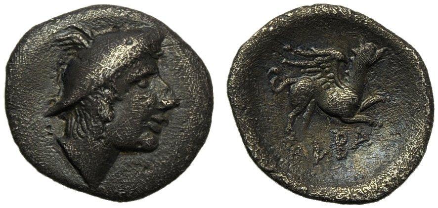 Latium, Alba Fucens, Diobol, c. 280-275 BC