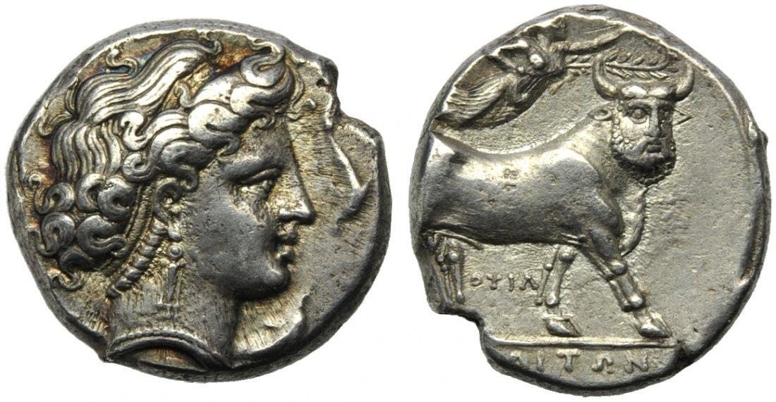 Campania, Neapolis, Didrachm, c. 300 BC