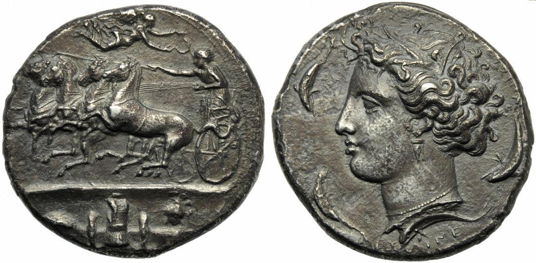Sicily, Syracuse, Decadrachm, c. 400-390 BC