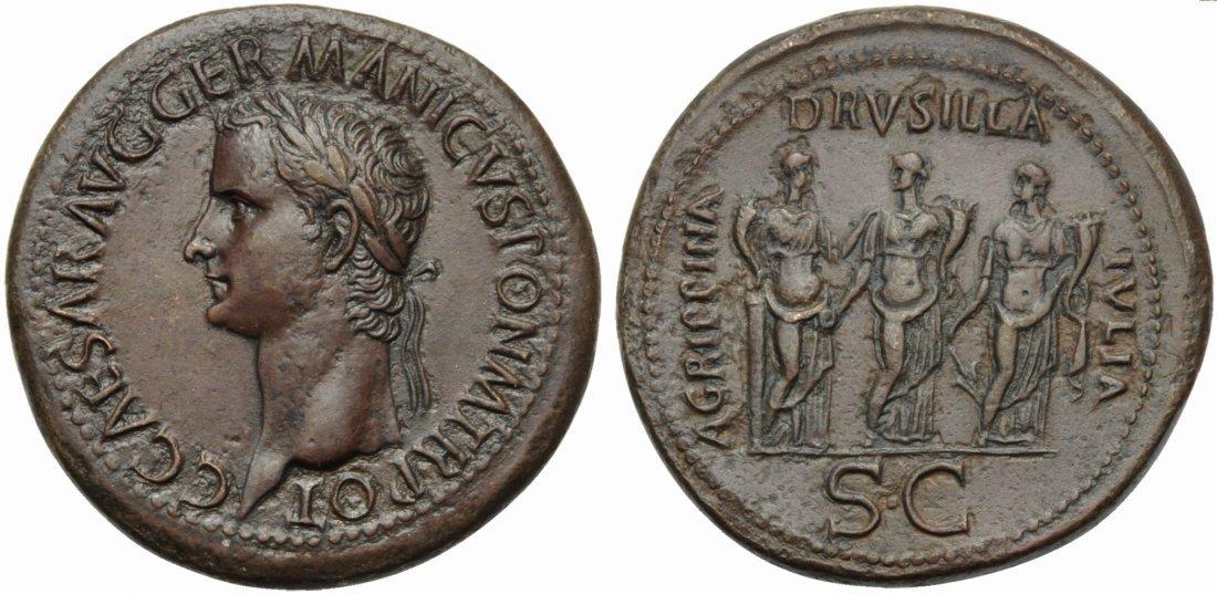 Gaius, called Caligula (37-41), Sestertius, Rome, AD