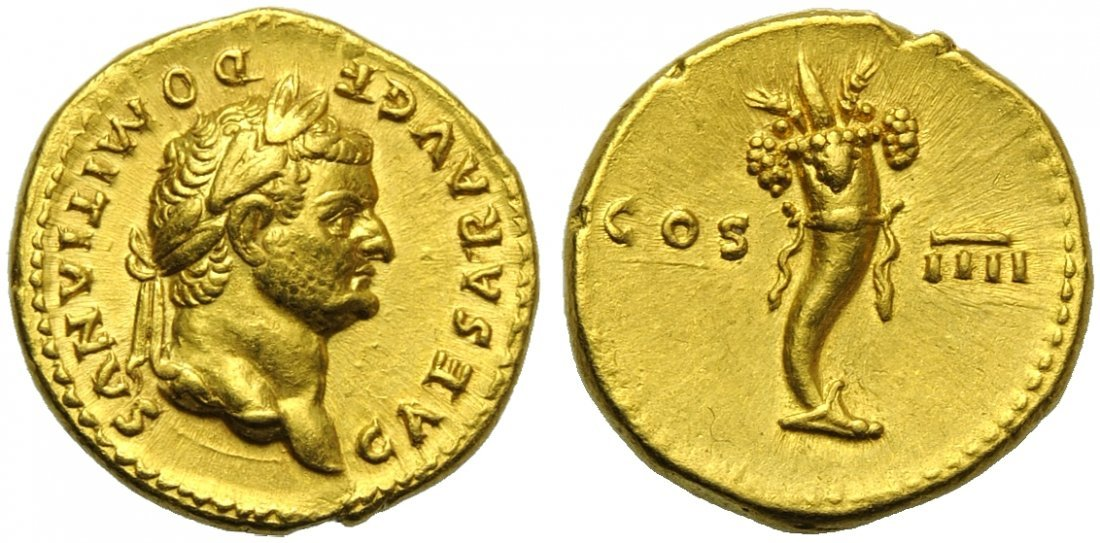 Domitian, as Caesar (Vespasian, 69-79), Aureus, Rome,
