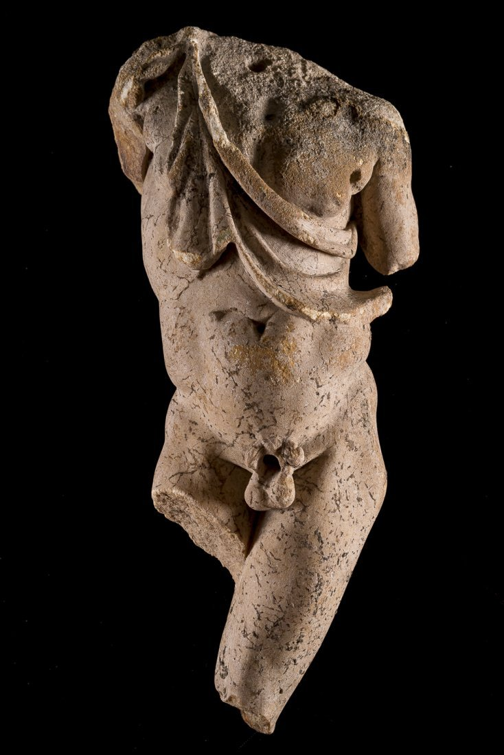 A outstanding Leaning Satyr by Praxiteles Roman copy: