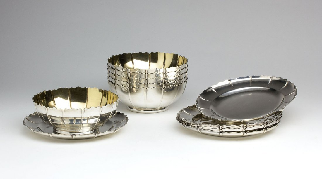 A set of six Sterling Silver 925 ‰ Bowls and