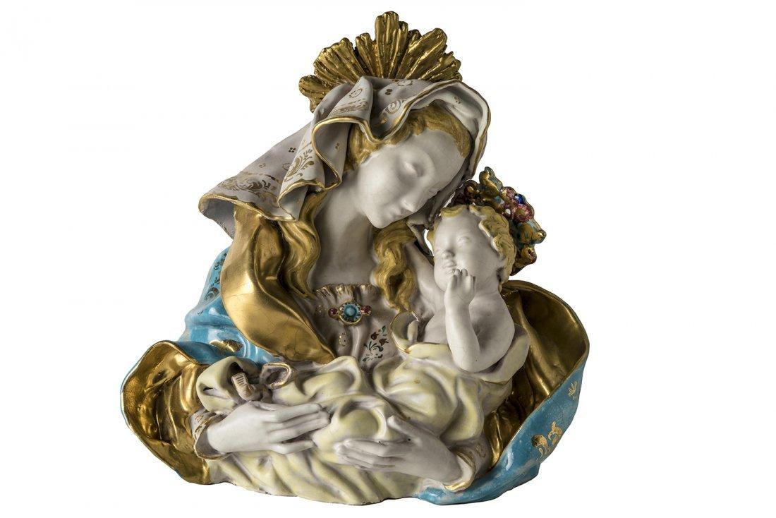 EUGENIO PATTARINO - Madonna and Child, 1943