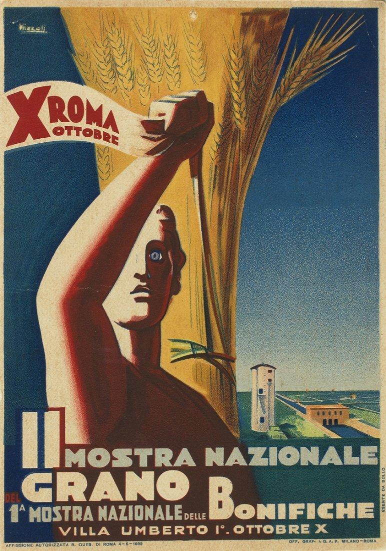 """MARCELLO NIZZOLI   - Poster of """"Mostra Nazionale del"""