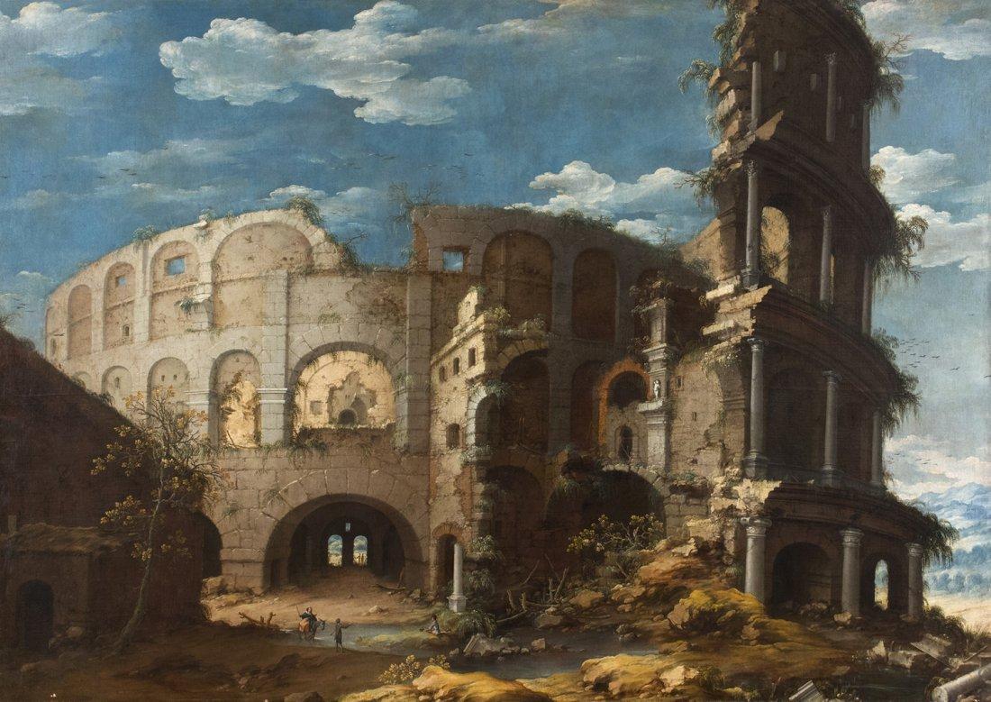 DIRCK VERHAERT - A view of the Colosseum
