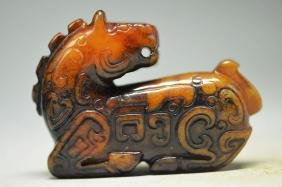 Old Chinese Old Hand-Carved Jade Statue Figure