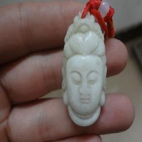 100%pure natural China Light green jade pendant