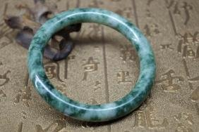 Old Chinese natural green jade bracelet - 61 mm