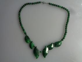 Natural Old Green Jade Necklace