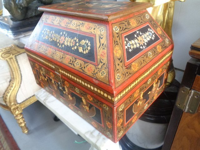 Hand Painted Rajasthani Large Wooden Box