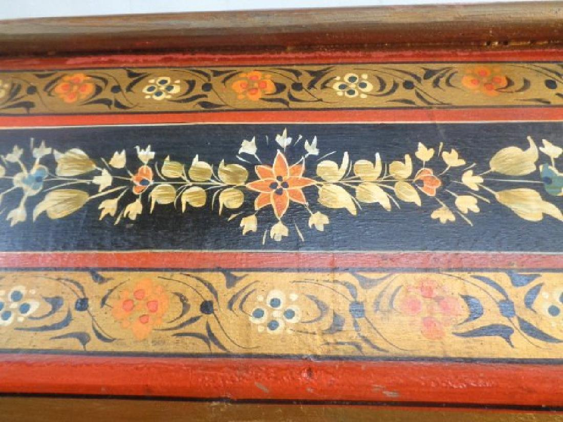 Hand Painted Rajasthani Large Wooden Box - 7