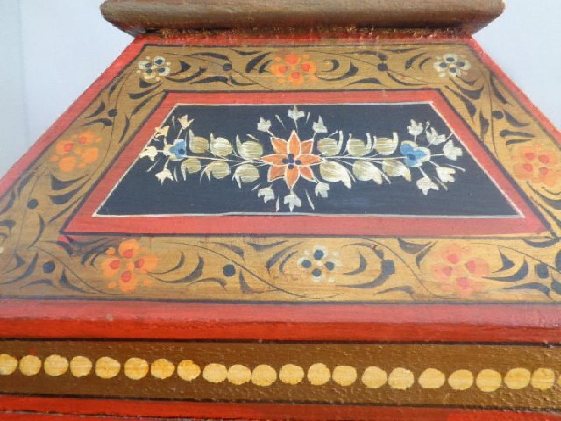 Hand Painted Rajasthani Large Wooden Box - 8