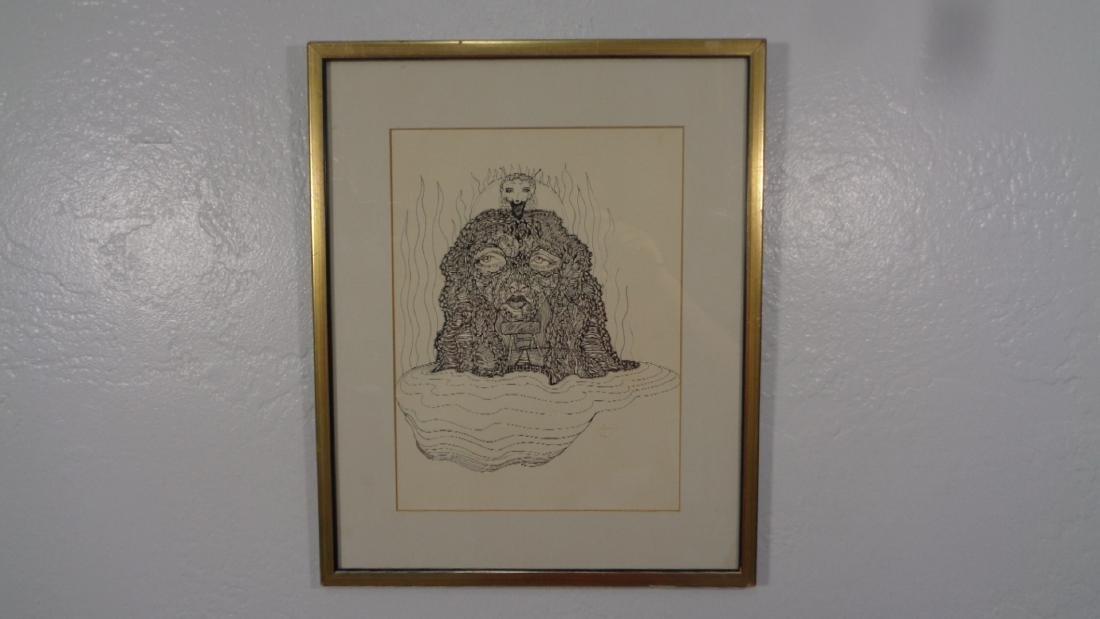 Lot of 4 Original Ink-Watercolor - Signed - 3