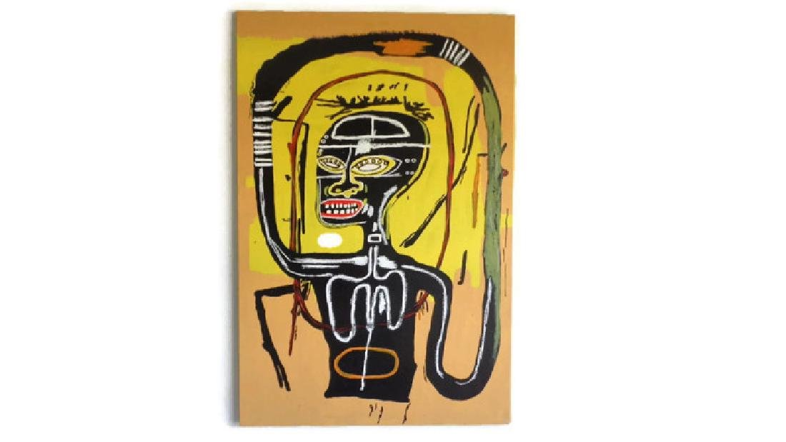 "Basquiat Style Painting ""Flexible"""