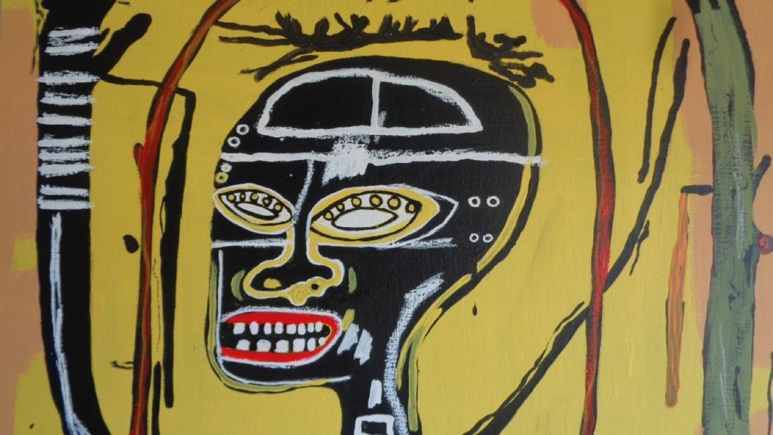 "Basquiat Style Painting ""Flexible"" - 2"